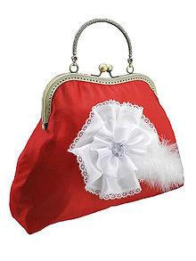 Kabelky - Spoločenská dámská kabelka červená 025A - 6900497_