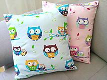 Úžitkový textil - Le BonBon Owls pillows - 6899991_