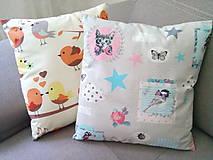 Úžitkový textil - Le BonBon pillows (Birds in love/Cats) - 6900024_