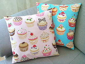Úžitkový textil - Le BonBon Cupcake pillows - 6899881_
