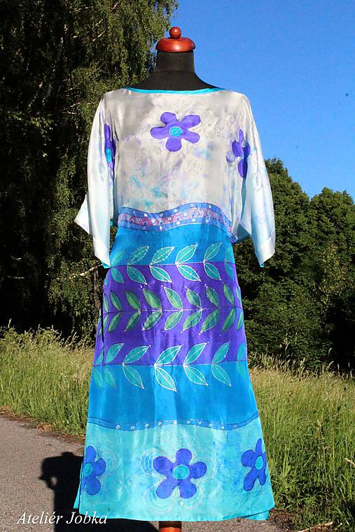 Plážové hedvábné šaty Santorini   jobka - SAShE.sk - Handmade Šaty 6a36a4513a