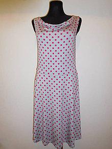 Šaty - Ružové bodky - 6899947_