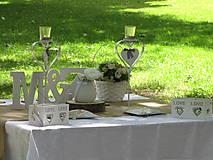 Iný materiál - Svadobná vintage výzdoba - 6900292_