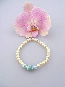 Náramky - larimar perla náramok - dotyk oceánu - 6899032_