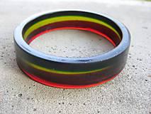 Náramky - Trojfarebný živicový náramok -  č.506 - 6899306_