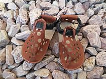 Topánočky - Barefoot sandalky s gumenou podrazkou skladom Vd 15,5cm - 6900638_