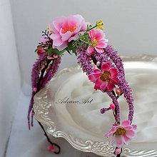 Ozdoby do vlasov - Venček  v ružovej - 6899119_