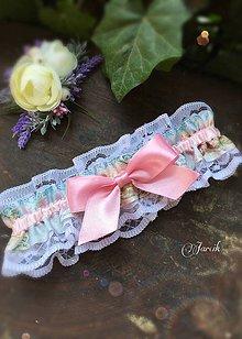 Bielizeň/Plavky - Vintage podvazok Pink - 6900289_