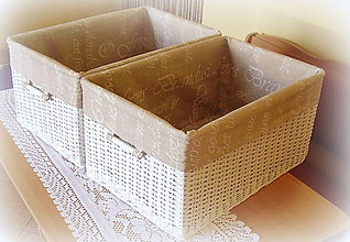 Košíky - Košík - box písmenkový - 6899594_