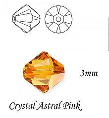 Korálky - SWAROVSKI® ELEMENTS 5328 Xilion Bead - Crystal Astral Pink, 3mm, bal.15ks - 6900853_