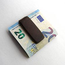 Tašky - Mahagónová spona na peniaze - 6900331_