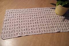 Úžitkový textil - Béžová háčkovaná dečka - 6901047_