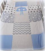 Textil - Deka Basic svetlomodrá s mráčikom 70x90cm - 6903452_