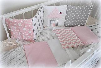 Textil - Hniezdo do podstieľky kolekcie Basic s domčekom 240x25cm - 6903196_