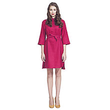 Šaty - resort 2016 - Lněné košilové šaty (MALINA) - 6902145_