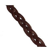 Galantéria - Kožený pletený remienok, hnedý 5,5mm/0,2m - 6902119_