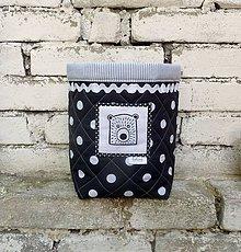 Textil - Látkový košík s medvědem - 6902392_