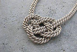 Náhrdelníky - Uzlový náhrdelník - 6903398_