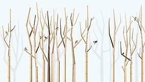 Grafika - Veľký les a červienky - 6902480_