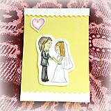 Papiernictvo - Svadobná pohľadnica - D&B 4 - 6901867_