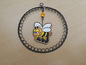Hračky - Včelka - drátovaný obrázek - 6903920_