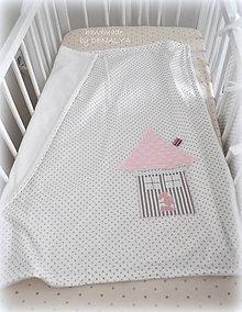 Textil - Letná deka Basic s domčekom 70x90cm - 6905572_