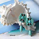 Náušnice - Korálkové náušnice 0124 - 6904782_