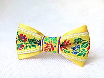 Ozdoby do vlasov - Mini Folklore hair clip (yellow) - 6904713_