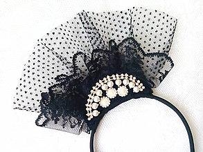 Ozdoby do vlasov - Burlesque headband - 6904791_