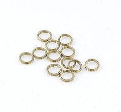 Komponenty - Dvojité spojovacie krúžky, 6mm/10ks - 6904516_