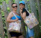 Veľké tašky - Motýle na doskách a ešte aj na pleci - 6903695_