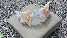 Ozdoby do vlasov - Čelenka kvetinky 5 - 6905807_