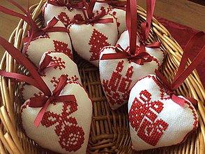 Dekorácie - Vianočné ozdoby - vyšívané Vianoce - 6903603_