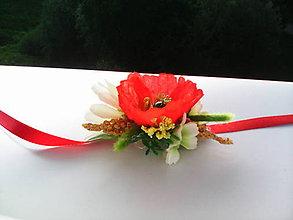 """Náramky - Kvetinový náramok folk """"Divé maky"""" - 6903727_"""