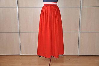 Sukne - SUKŇA - dlhá červená - 6905950_