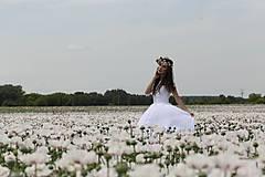 Šaty - Svadobné šaty v ľudovom štýle z kvietkovanej hrubej krajky - 6904759_