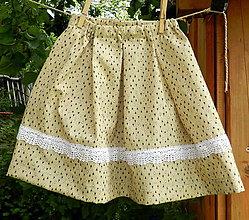 Detské oblečenie - Letná sukňa - drobné srdiečka - 6904365_