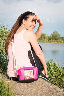 Kabelky - Cubico maxi - vtáčik v ružovom - 6905017_