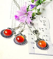 Sady šperkov - Antique Orange Agate Set / Sada s oranžovým achátom - 6906014_
