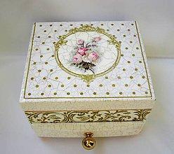 Krabičky - Šperkovnica- Rose - 6907480_