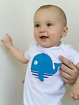 Detské oblečenie - body VEĽRYBA (dlhý/krátky rukáv) - 6906060_