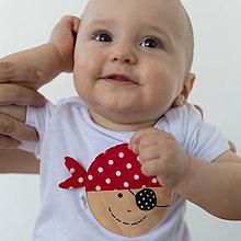 Detské oblečenie - body PIRÁT VENDELÍN s páskou (dlhý/krátky rukáv) - 6906151_