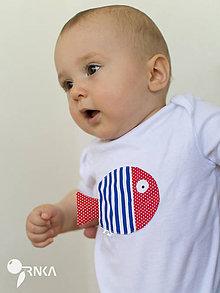 Detské oblečenie - body RYBKA PÁNA KAPITÁNA (dlhý/krátky rukáv) - 6907165_