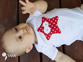 Detské oblečenie - body MORSKÁ HVIEZNICA  (dlhý/krátky rukáv) - 6908556_