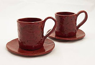 Nádoby - Šálka na kávu 1,25 dl + podšálka 15,5 cm - 6908826_