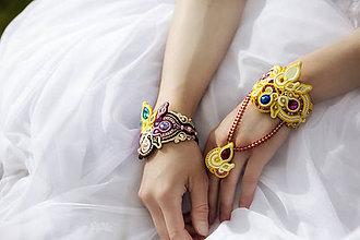 Náramky - Náramok s prsteňom Bonjour broderie - 6908962_