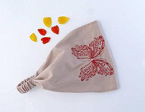Ozdoby do vlasov - Krajkový motýl vínový - 6908198_