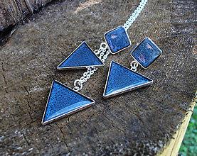 Sady šperkov - Modré trojuholníky - 6908533_