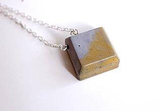 Náhrdelníky - Betónový štvorec náhrdelník - 6907987_