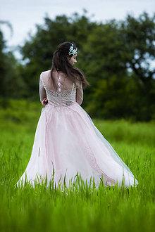 Šaty - ružové tylové šaty,,Bonjour broderie,, - 6908886_